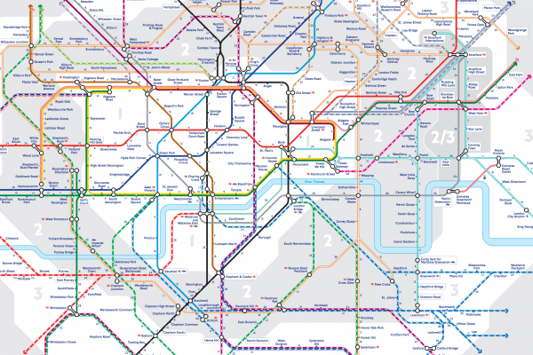 New Tube Map from TFL